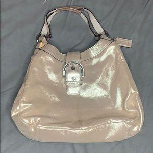 Coach Muted Gold Large Shoulder Bag
